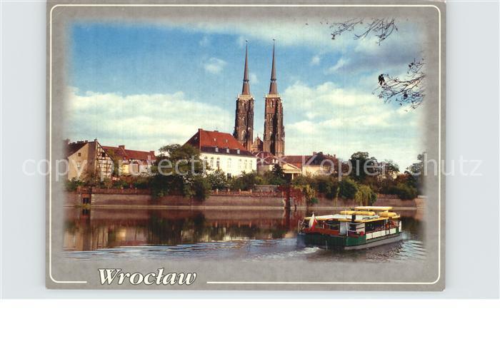 Wroclaw Ostrow Tumski z katedra pw Sw Jana Chrzciciela Kat. Wroclaw Breslau
