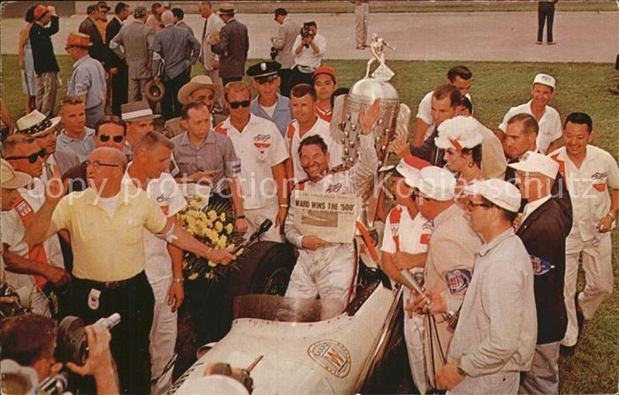 Indianapolis 500 Mile Race Rodger Ward in 1956 Victory Lane Kat. Indianapolis