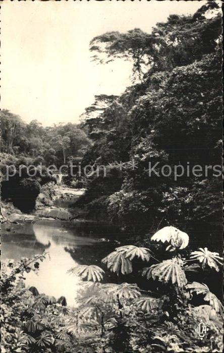 kt73889 Congo Francais Paysage du Mayombe Parcours du Chemin de fer du Congo Oce