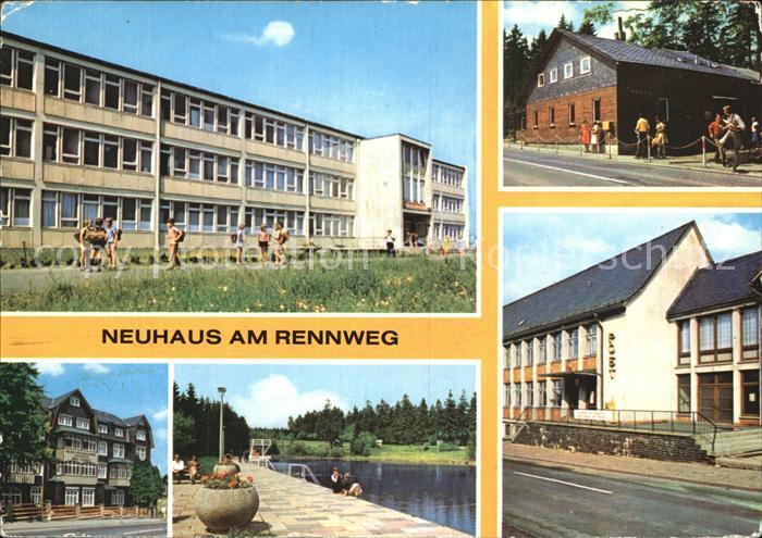 Neuhaus Rennweg Erholungsheim Ernst Thaelmann Rennsteigbaude Post Kat. Neuhaus Rennweg