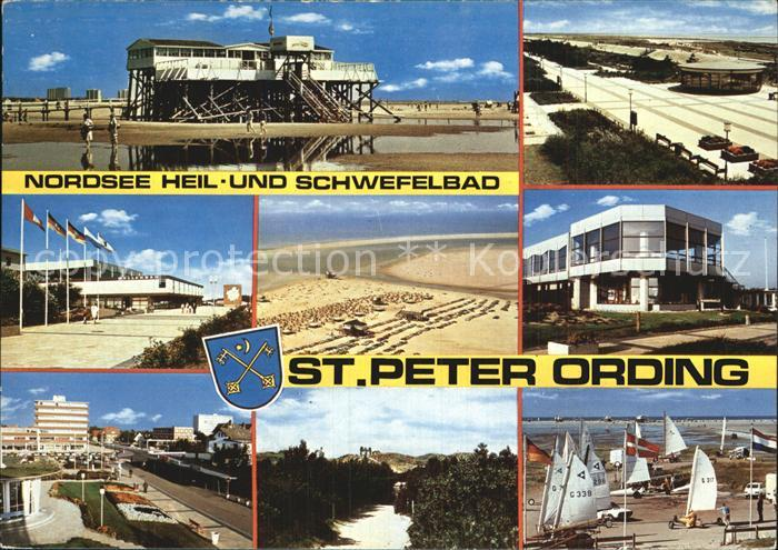 St Peter Ording Strand Restaurant Wellenbad Promenade Strandsegeln Nordseeheilbad Kat. Sankt Peter Ording