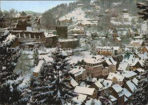 Monschau Verschneite Stadt mit der Jugendburg Naturpark Nordeifel Cornely Karte Nr 11957 Kat. Monschau