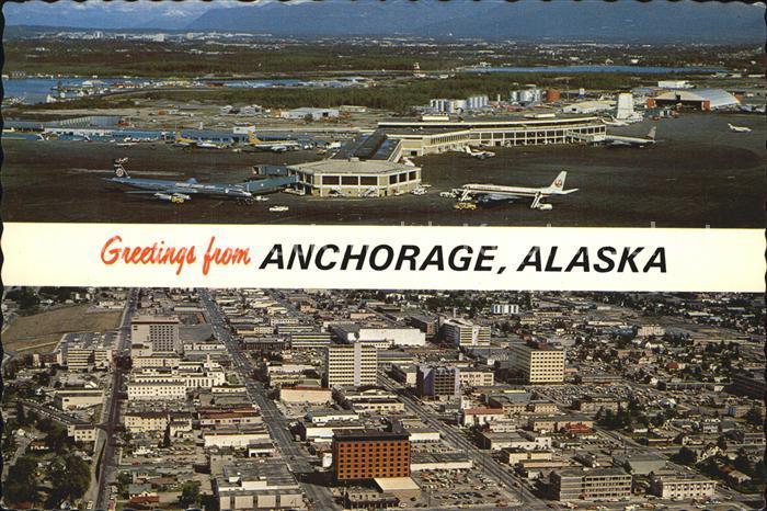 Anchorage Fliegeraufnahme mit Flughafen Kat. Anchorage