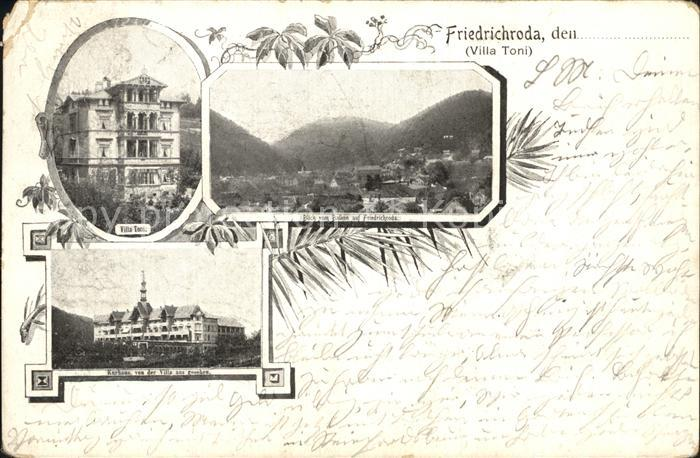 Friedrichroda Villa Toni Kurhaus Kat. Friedrichroda