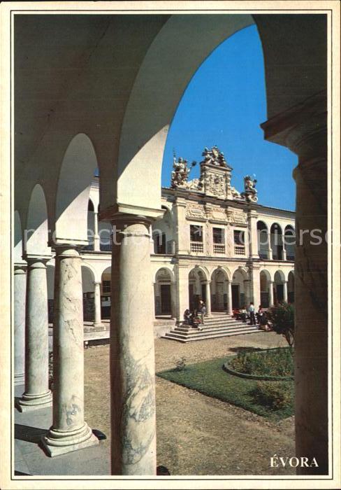 Evora Antiga Universidade Fachada e Claustro Universitaet Kat. Evora