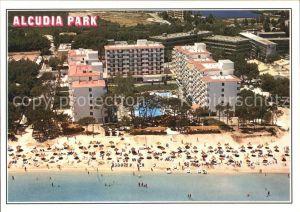 Alcudia Mallorca Fliegeraufnahme Strand mit Alcudia Park Kat. Spanien