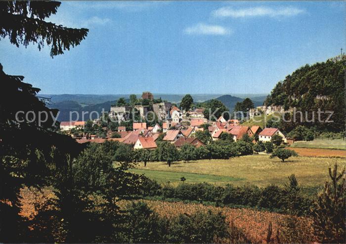 Hartenstein Mittelfranken Panorama Kat. Hartenstein