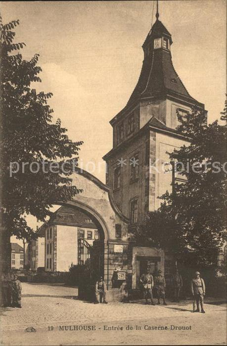 Mulhouse Muehlhausen Eingang Caserne Drouot Kat. Mulhouse