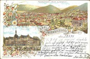 Friedrichroda Panorama Blick vom Kurhaus Litho Kat. Friedrichroda