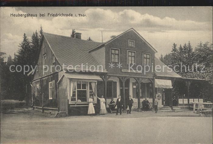 Friedrichroda Heubergshaus Gaststaette auf dem Heuberg Kat. Friedrichroda