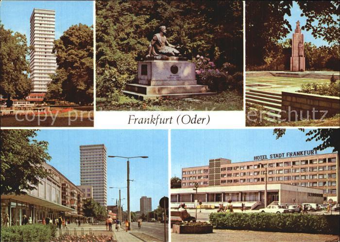Frankfurt Oder Hochhaus Platz der Republik Hotel Stadt Frankfurt Kat. Frankfurt Oder