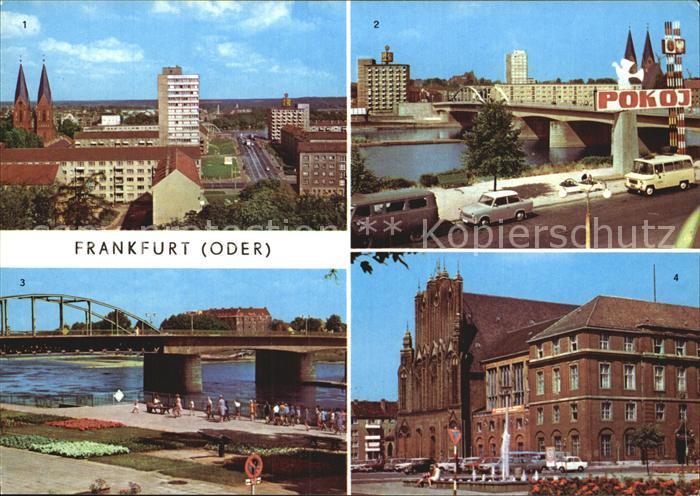 Frankfurt Oder Bruecke der Freundschaft Rathaus Kat. Frankfurt Oder