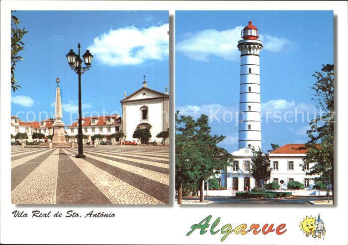 Vila Real de Santo Antonio Platz Denkmal Leuchtturm Kat. Vila Real de Santo Antonio