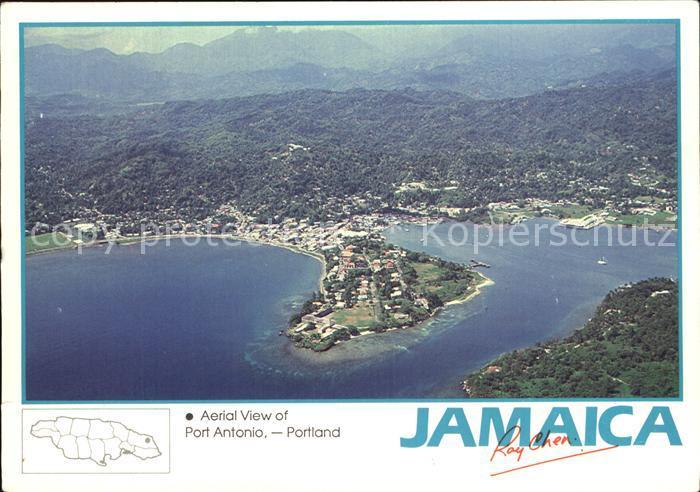 Port Antonio Aerial view