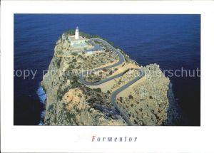 Formentor Fliegeraufnahme mit Leuchtturm Kat. Cap Formentor Islas Baleares Spanien