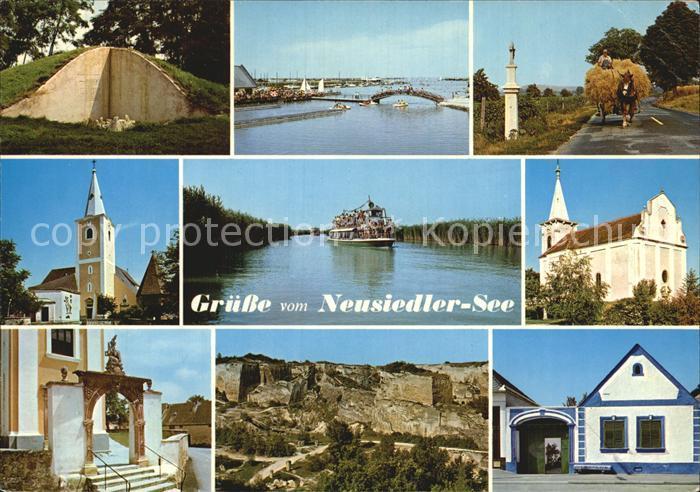 Siegendorf Burgenland Neusiedler See Rust Seebad Bauernfuhrwerk Seeschifffahrt Kat. Siegendorf