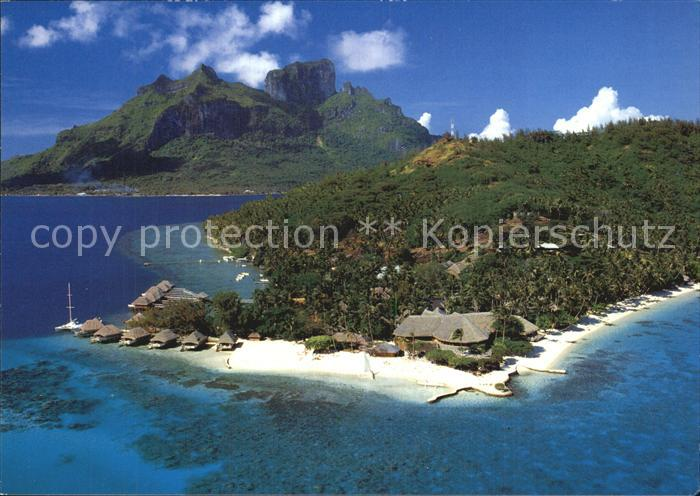 kt80216 Polynesien Hotel Bora Bora Fliegeraufnahme