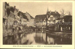 Strassburg Elsass Kleines Frankreich 1875 Kat. Strasbourg