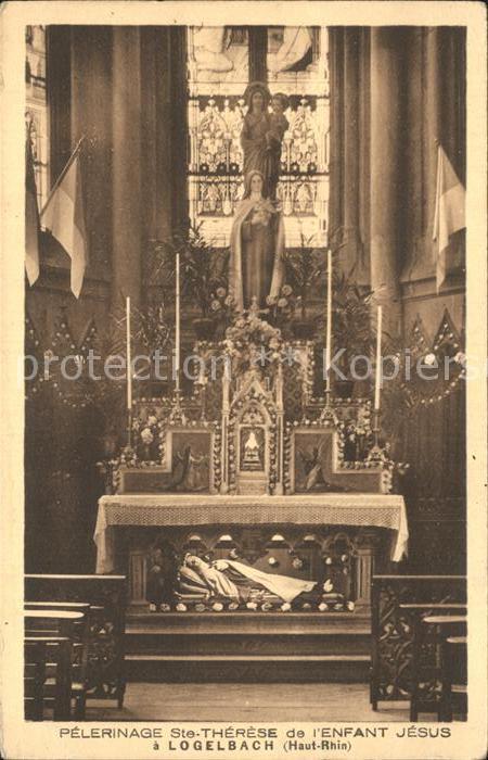 Wintzenheim Colmar Logelbach Altar Saint Therese Jesuskind  Kat. Wintzenheim