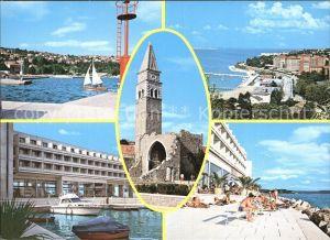Bernardin Teilansicht Hafen Kirche Strand