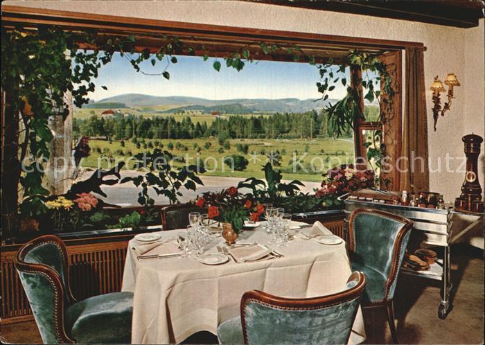 Hinterzarten Parkhotel Adler im Schwarzwald Restaurant Kat. Hinterzarten