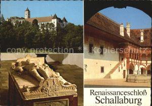 Loosdorf Renaissanceschloss Aussenansicht Arkadenhof  Hochgrab des Wilhelm von Losenstein Kat. Loosdorf