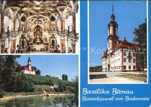Birnau Basilika Innen  und Aussenansicht Kat. Uhldingen Muehlhofen