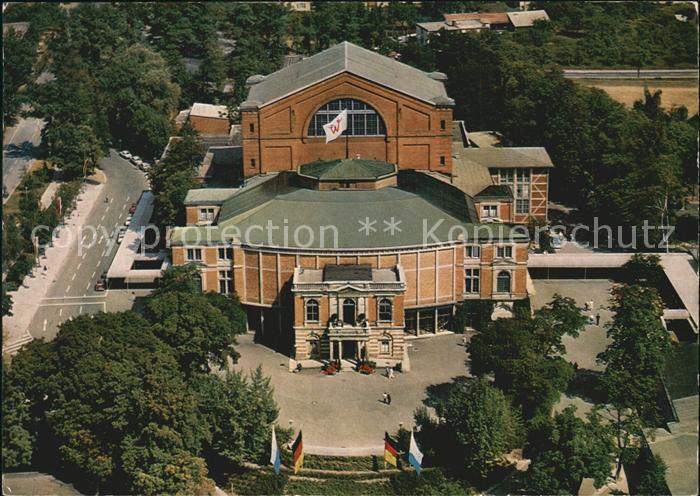 Bayreuth Richard Wagner Festspielhaus Fliegeraufnahme Kat. Bayreuth