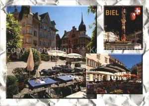 Biel Bienne Teilansicht Altstadt  Kat. Biel