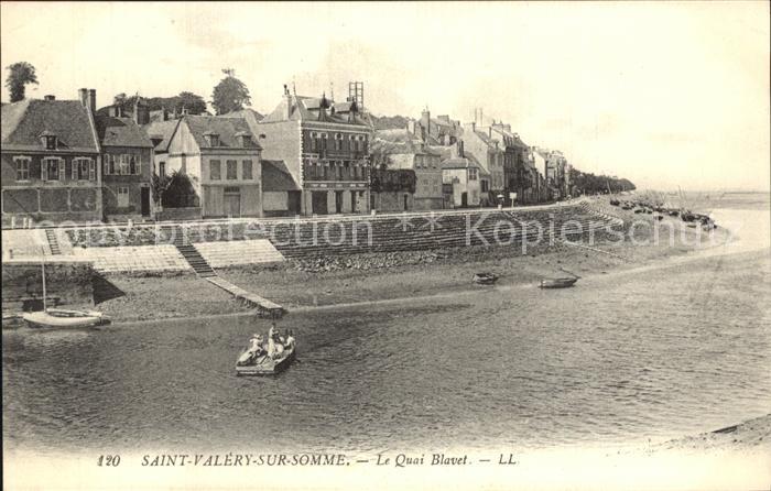 Saint Valery sur Somme Le Quai Blavet Kat. Saint Valery sur Somme
