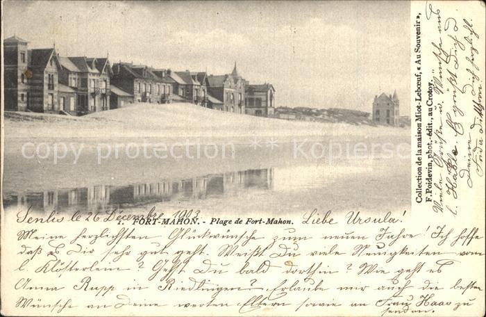 Fort Mahon Plage Plage Strand Kat. Fort Mahon Plage