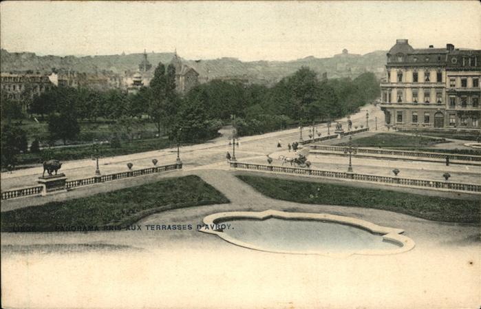 Liege Luettich Panorama aux Terrasses d'Avroy / Luettich /Provinde Liege Luettich
