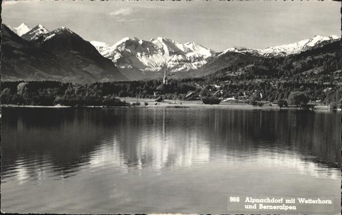 Alpnach Dorf Wetterhorn und Berner Alpen / Alpnach Dorf /Bz. Obwalden