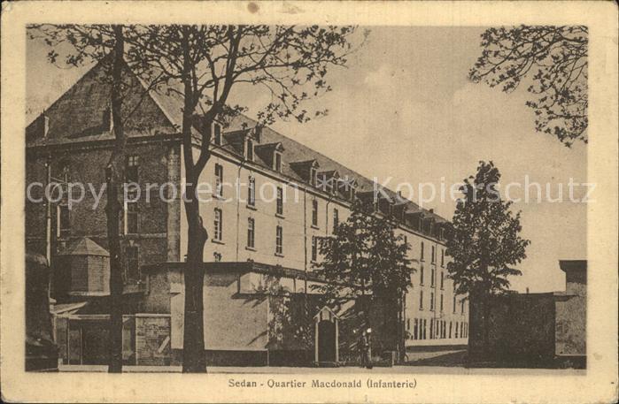 Sedan Ardennes Quartier Macdonald Infanterie Kat. Sedan