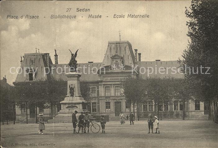 Sedan Ardennes Place d Alsace Bibliotheque Musee Ecole Maternelle Monument Kat. Sedan
