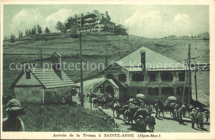 Sainte Anne Alpes Maritimes Arrivee de la Troupe