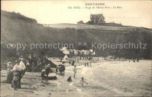 Binic Cotes d Armor Plage de l Avant Port Le Bain Badestrand Kat. Binic