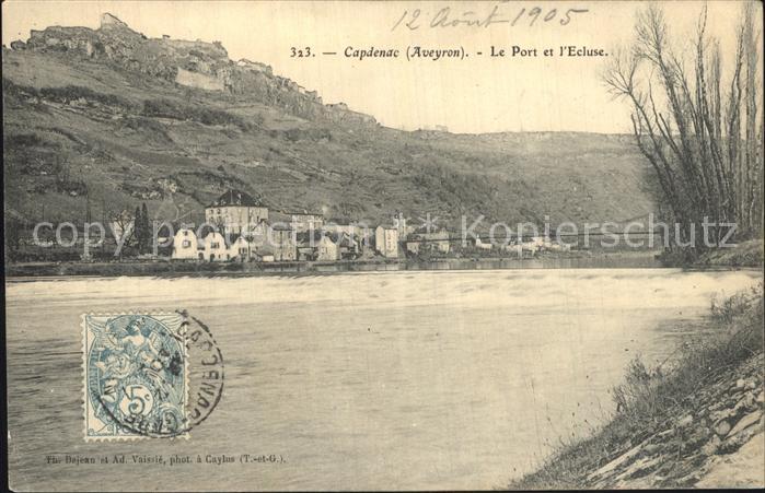 Capdenac Gare Le Port et l Ecluse Bords de la riviere Kat. Capdenac Gare