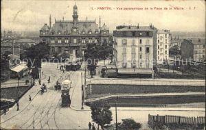 Pantin Vue panoramique de la Place de la Mairie Kat. Pantin