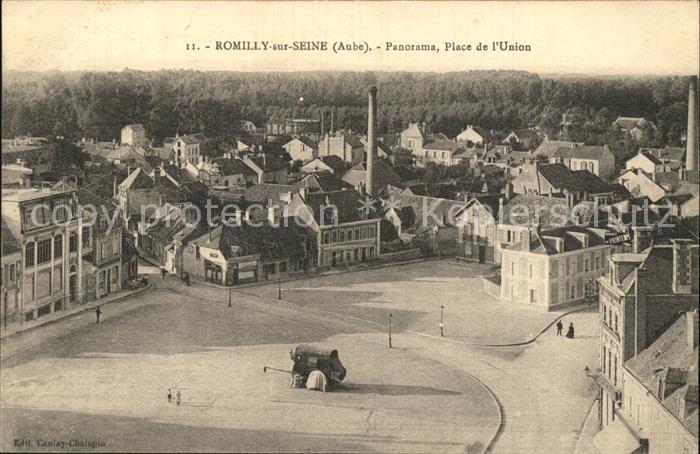 Romilly sur Seine Panorama Place de l Union Kat. Romilly sur Seine