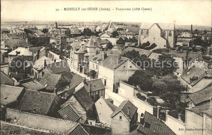 Romilly sur Seine Panorama Kat. Romilly sur Seine