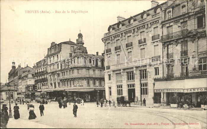 Troyes Aube Rue de la Republique Kat. Troyes