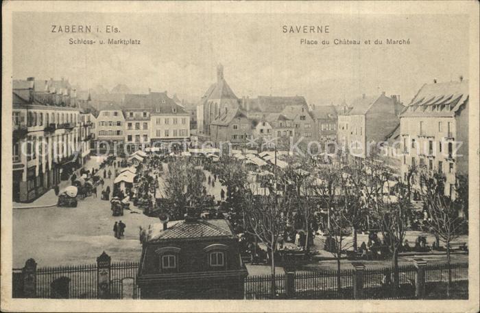 Zabern Saverne Schlossplatz Marktplatz