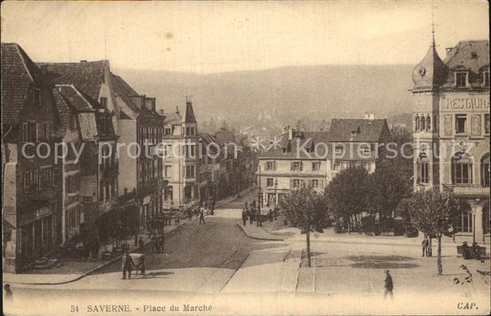 Saverne Bas Rhin Alsace Place du Marche Kat. Saverne