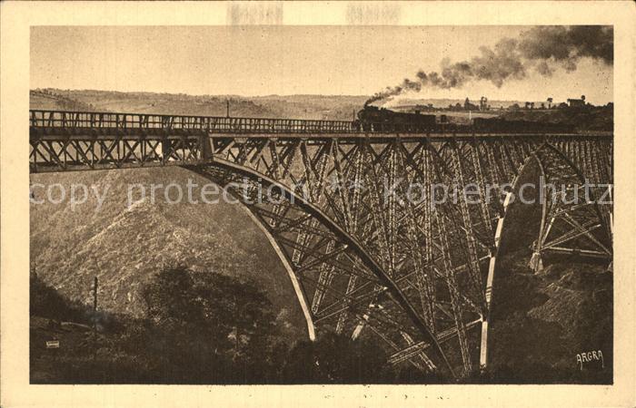 Rodez Viaduc du Viaur Viadukt Eisenbahnbruecke Kat. Rodez