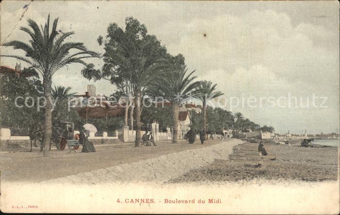 Cannes Alpes Maritimes Boulevard du Midi Plage Kat. Cannes