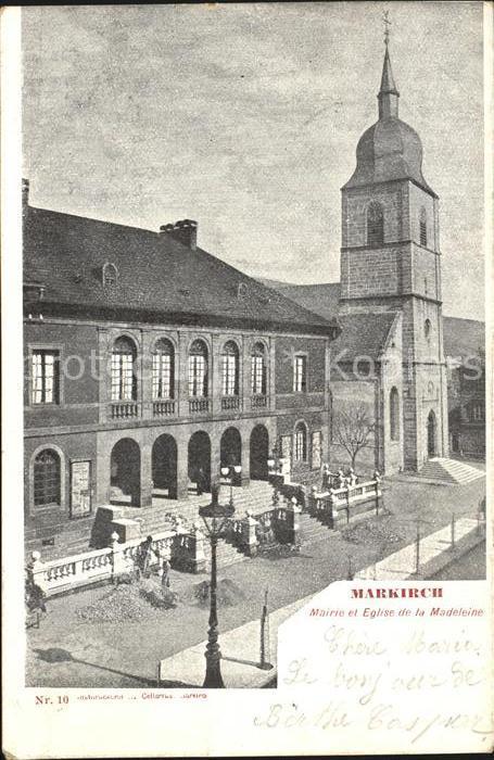 Markirch Mairie et Eglise de la Madeleine Kat. Sainte Marie aux Mines