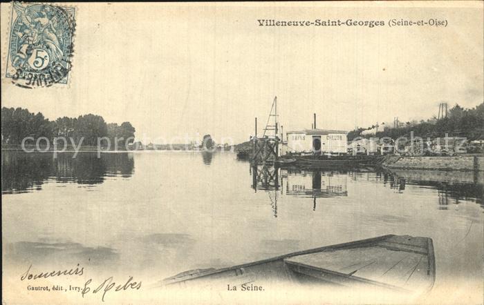 Villeneuve Saint Georges La Seine Kat. Villeneuve Saint Georges