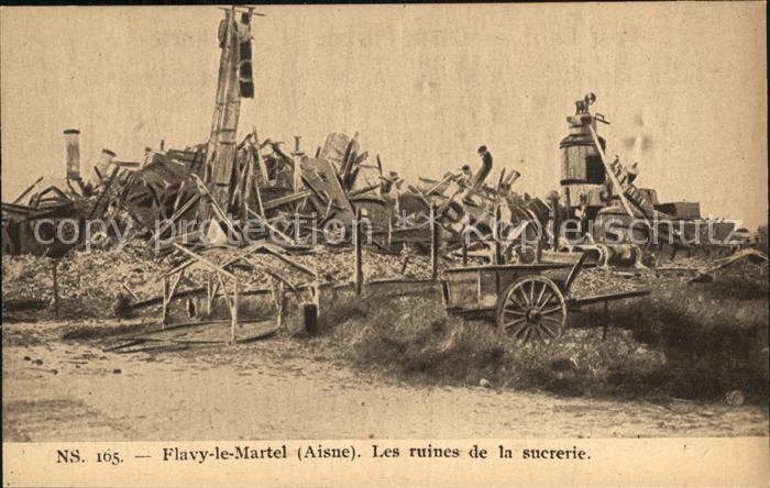 Flavy le Martel Les ruines de la sucrerie Ruinen Zuckerfabrik NS 165 Kat. Flavy le Martel