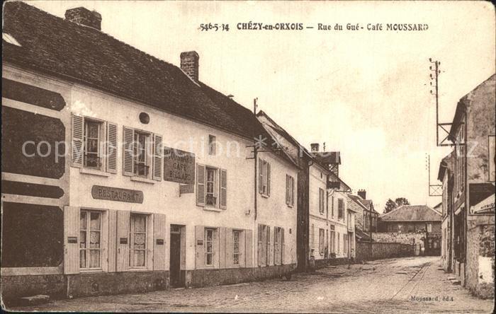 Chezy en Orxois Rue du Gue Cafe Moussard Kat. Chezy en Orxois